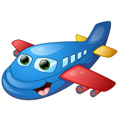 happy plane cartoon vector image