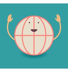 Happy smiling globe vector image