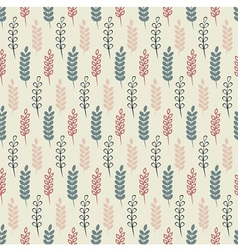 Herb summer pattern vector image