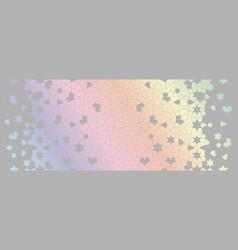 Holographic rainbow arabesque seamless vector