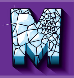 Ice font -letter m vector