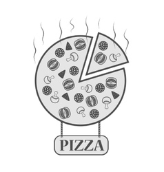 icon for pizzeria vector image