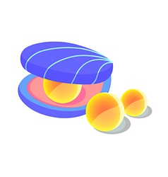 icon pearl oyster vector image