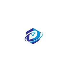 initial d digital logo icon vector image