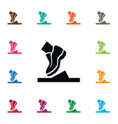 Isolated shoelace icon running element can vector