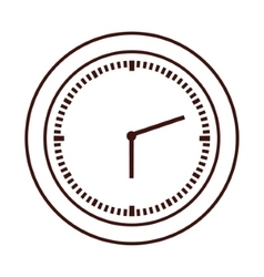 Isolated time clock design vector