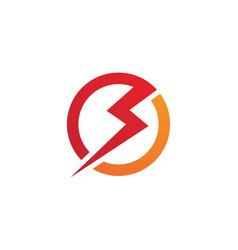 lightning logo template icon design vector image