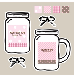Mason jar tags vector