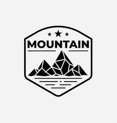 mountain with lake logo design template vector image