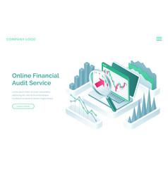 online financial audit service banner vector image