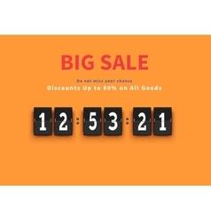 Opening soon big sale countdown vector