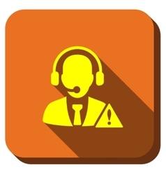 Operator Warning Longshadow Icon vector