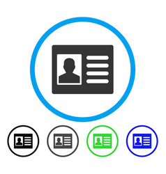 Patient account rounded icon vector