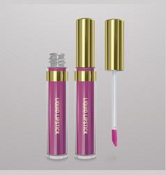 Realistic light pink liquid lipstick 3d vector