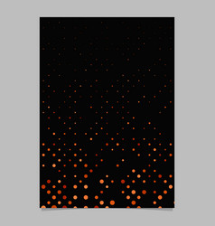 red abstract dot pattern brochure background vector image