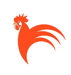 Red rooster Symbol of New Year 2017 vector