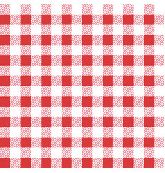Seamless table cloth texture red color textile vector