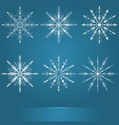 Snowflakes set elegant snowflakes vector