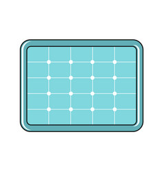 Solar battery icon in cartoon style vector