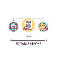 Statin concept icon vector
