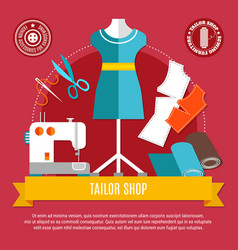 Tailor shop concept vector