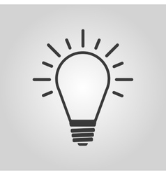 The Light lamp icon Idea symbol Flat vector image