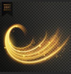 Transparent golden light effect vector