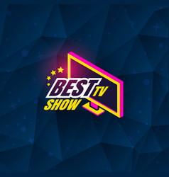Tv show logo vector