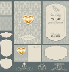 wedding invitation 2 380 vector image