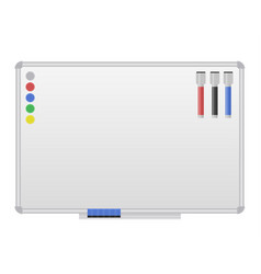White magnetic marker board vector