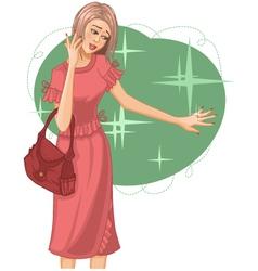 Woman fashion vector image