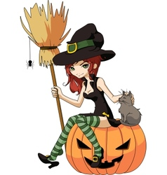 Young witch vector image