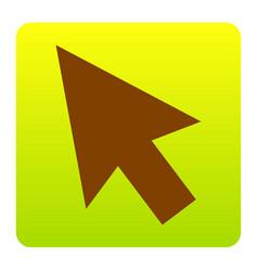 arrow sign brown icon at vector image
