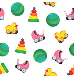 bright colored seamless pattern with children s vector image