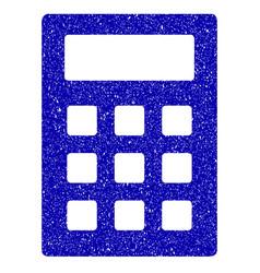 calculator icon grunge watermark vector image
