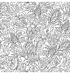 Coloring book Hand drawn Black and white vector image vector image