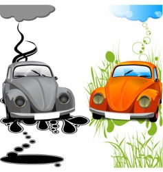 ecological car vector image vector image