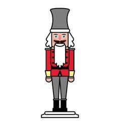 Isolated nutcracker of Christmas season design vector image vector image