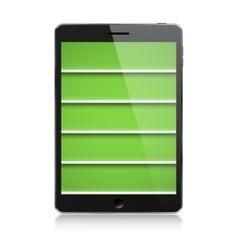 PDA bookshelf vector image