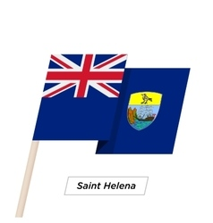 Saint Helena Ribbon Waving Flag Isolated on White vector image vector image