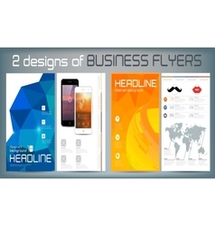 Set of Flyer Brochure Design Templates vector image vector image