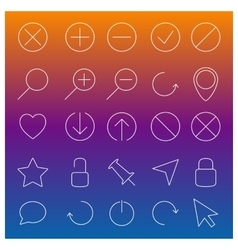 Set of linear Web icons vector image vector image
