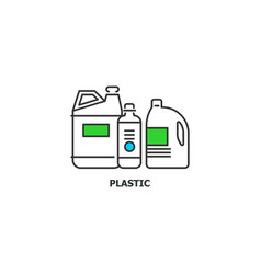 waste plastic recycle concept icon in line design vector image