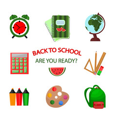 back to school icons template pattern vector image