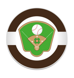 baseball sport field emblem icon vector image vector image