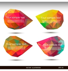 Colorful speech bubbles for your business website vector image