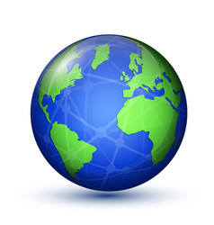 Earth planet world map vector
