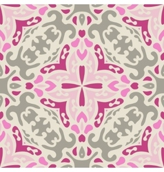 Pink abstract Seamless pattern vector image vector image