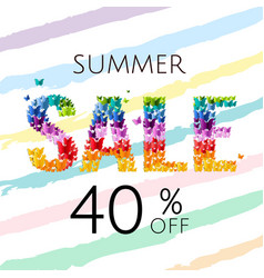 sale poster with butterfly vector image vector image