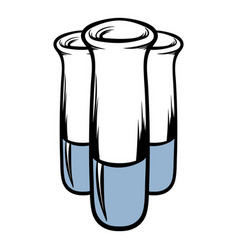 test tube icon cartoon vector image